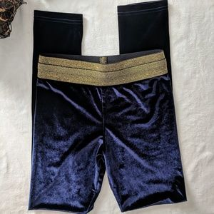Alexander Wang Blue Velvet Legging Size XS